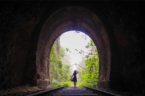 Sesión vías de tren abandonadas